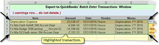 Export to QuickBooks
