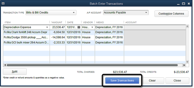Batch Enter Transactions