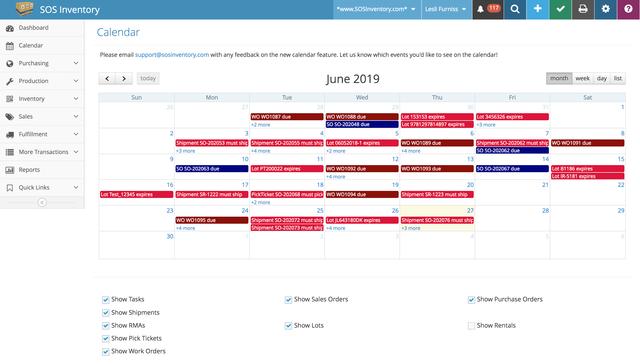 SOS - WIP Calendar
