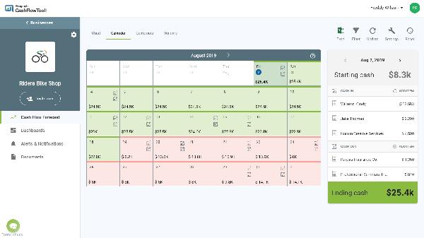 CashFlowTool - Calendar