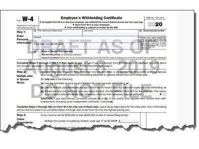 IRS Announces New W-4 Form for 2020 - insightfulaccountant.com