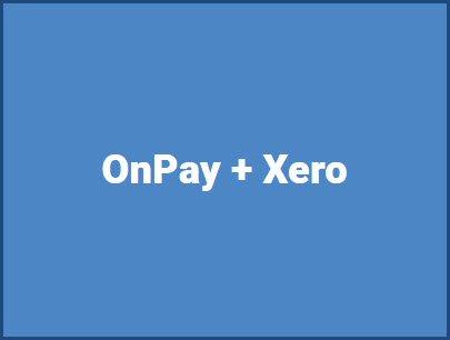 OnPay + Xero