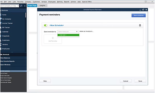 quickbooks desktop 2020 automated payment reminders