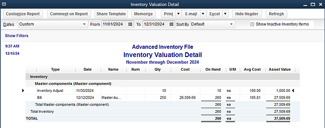 Landed-cost_inventory-valuation-report
