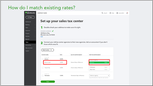 2019 QBO Sales Tax Changes - Hybrid Experience Change-over Step 2B