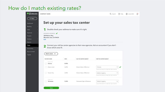2019 QBO Sales Tax Changes - Hybrid Experience Change-over Step 2C