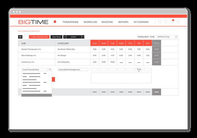 BigTime - Timesheet