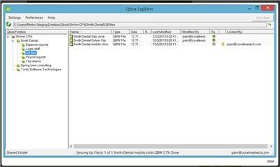 Qbox Explorer - File status display
