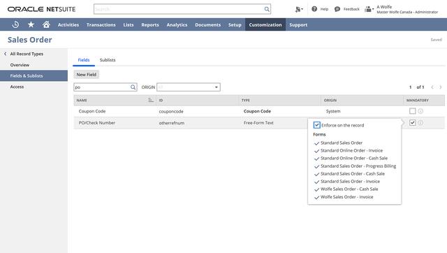 SuiteCloud-record-customization