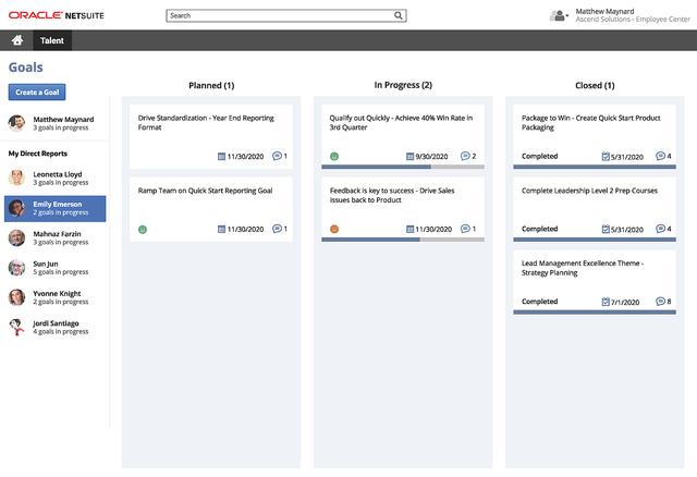 NetSuite Performance Management