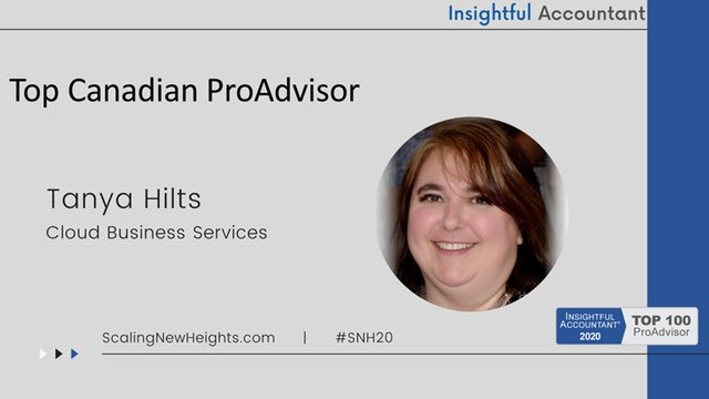 Tanya Hilts - 2020 Top Canadian ProAdvisor