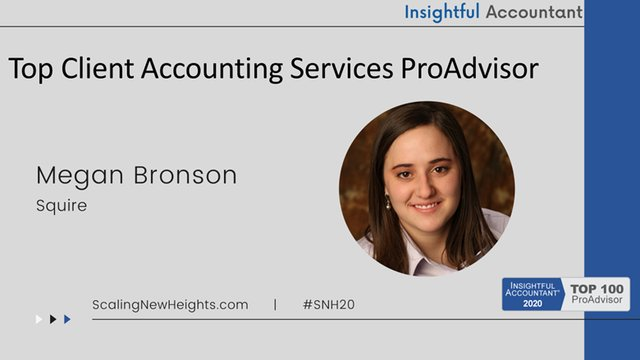 Megan Bronson - 2020 Top Client Accounting Services ProAdvisor