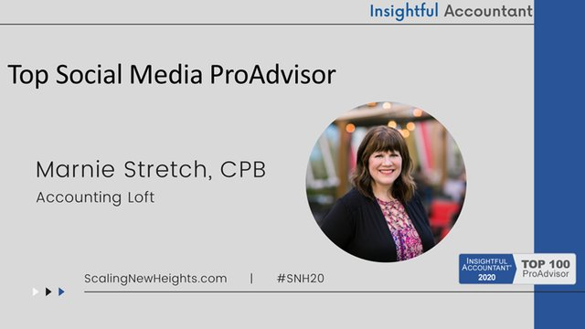 Marnie Stretch - 2020 Top Social Media ProAdvisor