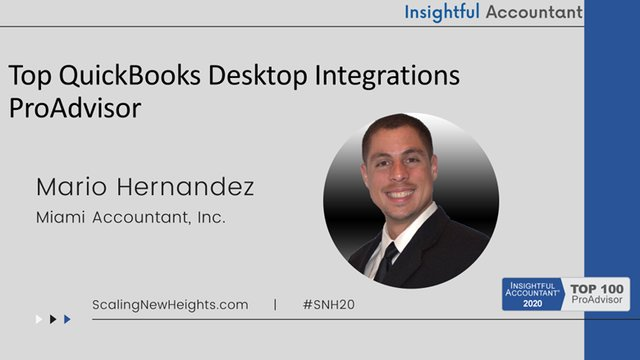 Mario Hernandez - 2020 Top QuickBooks Desktop Integrations ProAdvisor