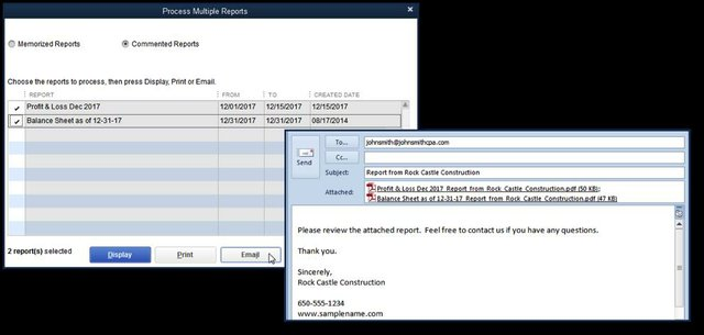 Send Multiple Reports with One Email