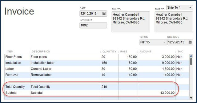 New Total Columns Feature