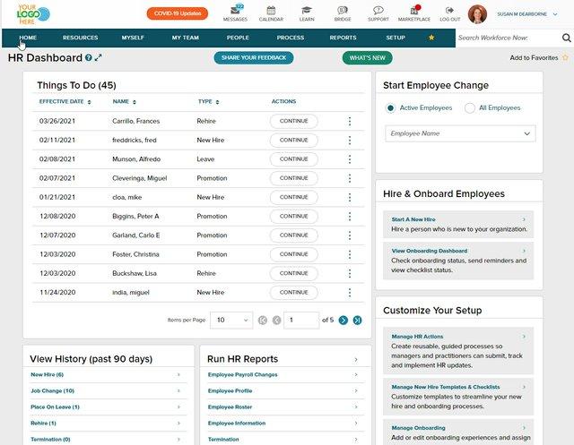 ADP: HR Dashboard