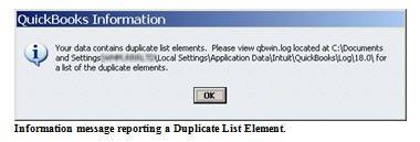 List Damage - Duplicate Names Message