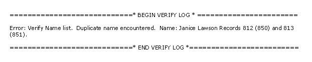 QBWin - Duplicate list entry Error
