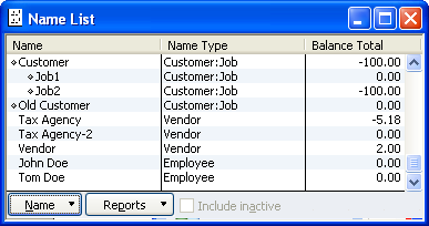 Master (Entity) Names List