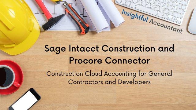 sage contractors procore connector