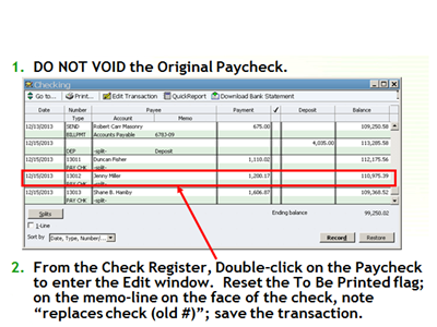 Replace payroll steps 1 and 2