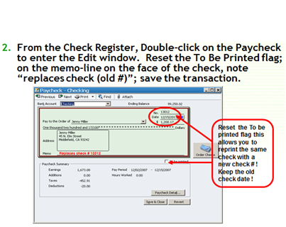 Replace paycheck step 2