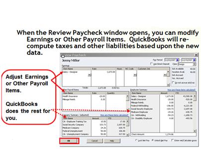 Adjusting an erronous paycheck