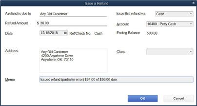 Issue the Refund (screen)