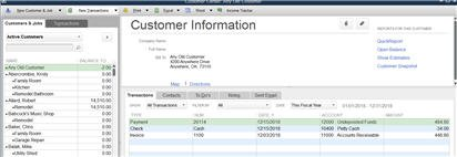 Verify Customer Center balance and entries
