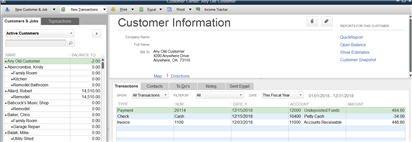 Verify Customer Center balance and entries