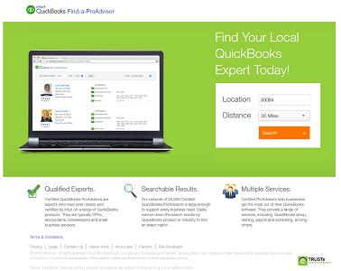 Screenshot of Find-a-ProAdvisor Website