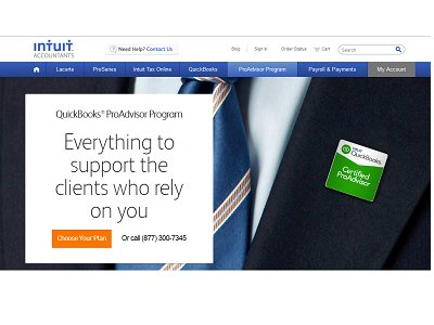 Intuit WuickBooks ProAdvisor Program.