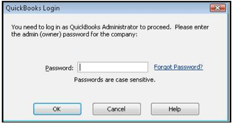 WHAT IF: QuickBooks can only be opened by the Administrator