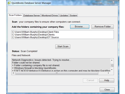 What is quickbooks database server manager