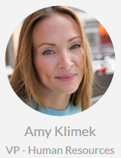 Amy Klimek, VP -  Human Resources