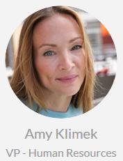 Amy Klimek, VP -  Human Resources