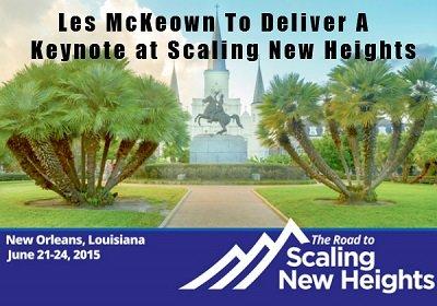 Les McKeown Keynote Speaker at Scaling New Heights
