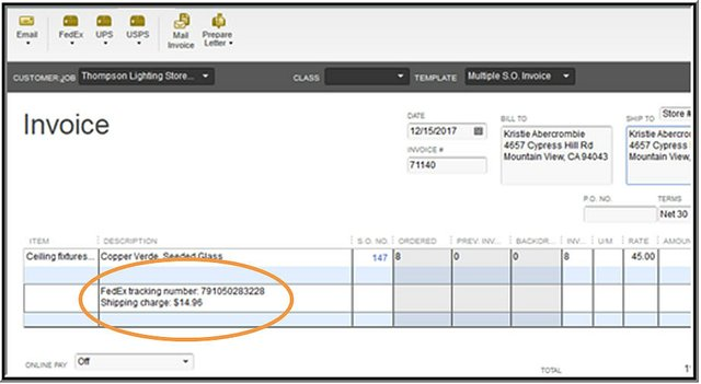 Shipping Manager Slide 7 - Shipment Info Posted to Invoice