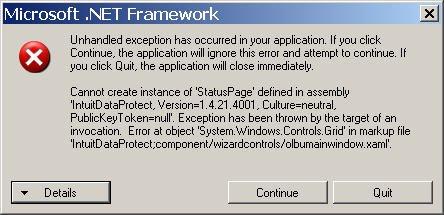Net Framework Errors