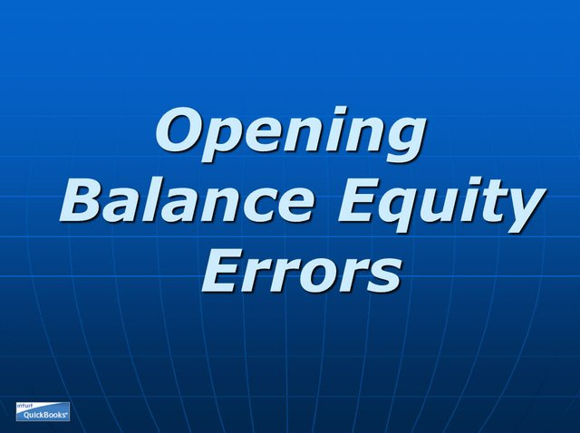 Opening Balance Equity 01