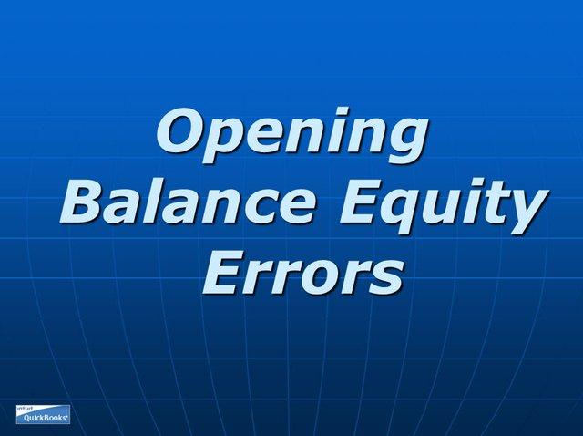 Opening Balance Equity 01