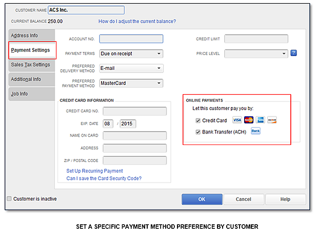 QuickBooks Feature Minute Improved EInvoicing - Quickbooks invoice credit card payment