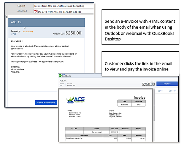 QuickBooks Feature Minute Improved EInvoicing - Quickbooks electronic invoicing