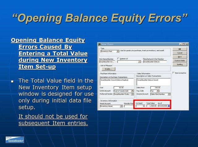 Opening Balance Equity 12