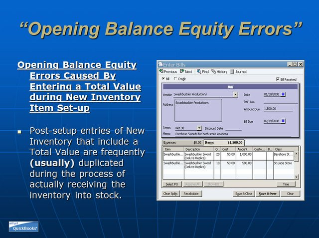 Opening Balance Equity 13