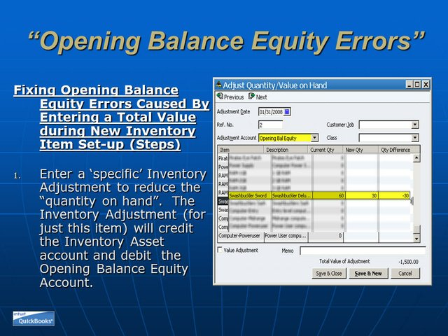 Opening Balance Equity 14