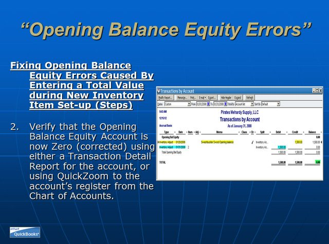 Opening Balance Equity 15