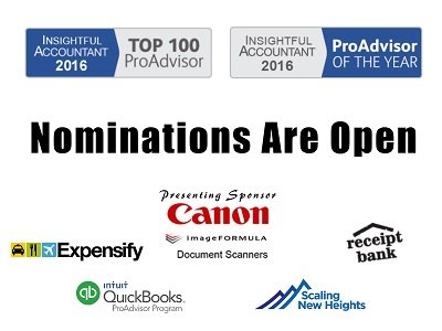 2016 ProAdvisor of the Year Nominations