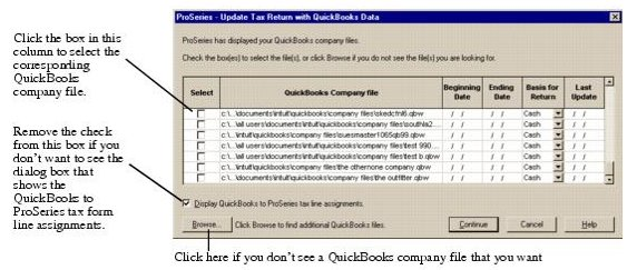 QuickBooks at Tax Time: Using Intuit ProSeries